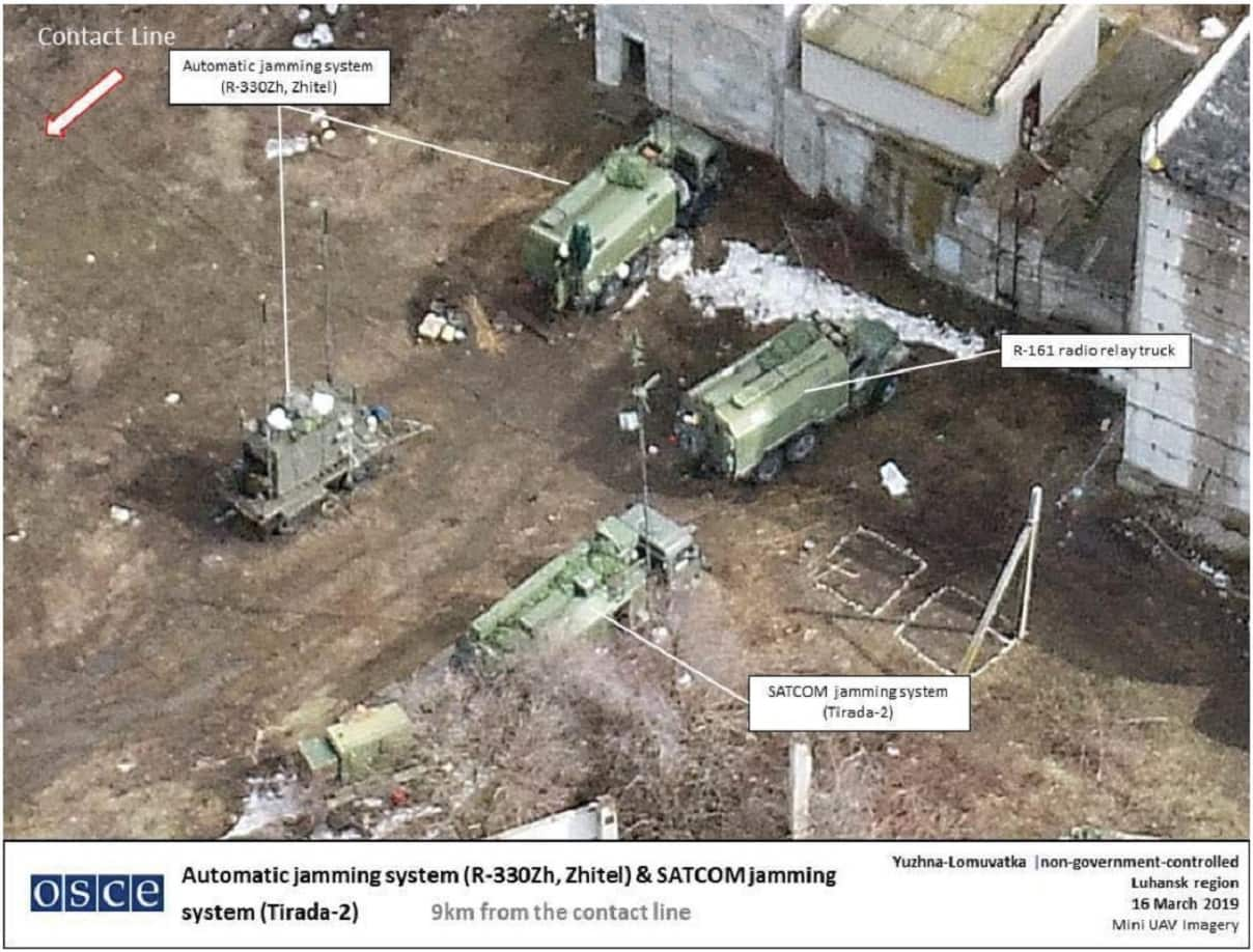OSCE release image of modern Russian jamming systems in eastern