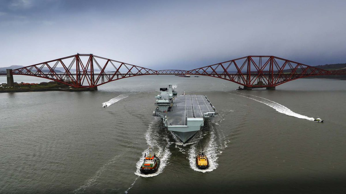 British newest aircraft carrier returns to Rosyth for