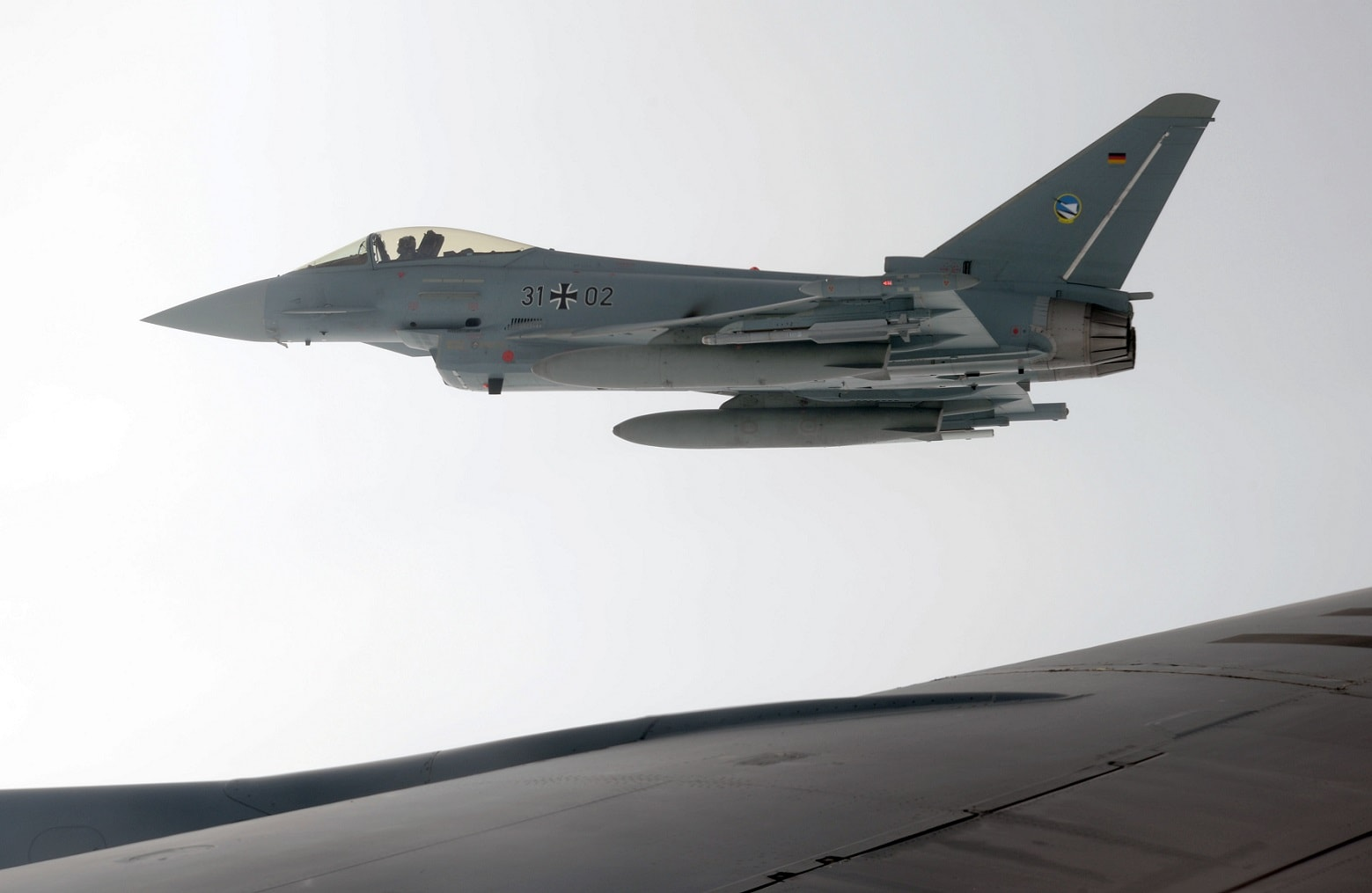 Pilot dead after Eurofighters crash in midair over Germany