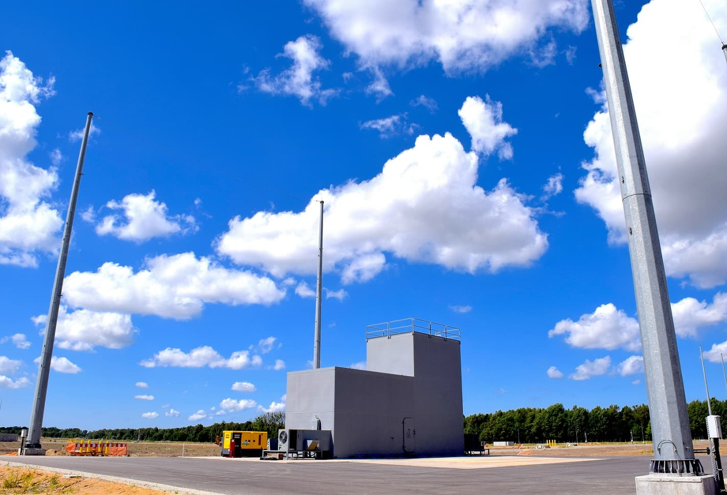 One of three ballistic missile defense launcher sites located on the base. Photo by Lt. Amy Forsythe