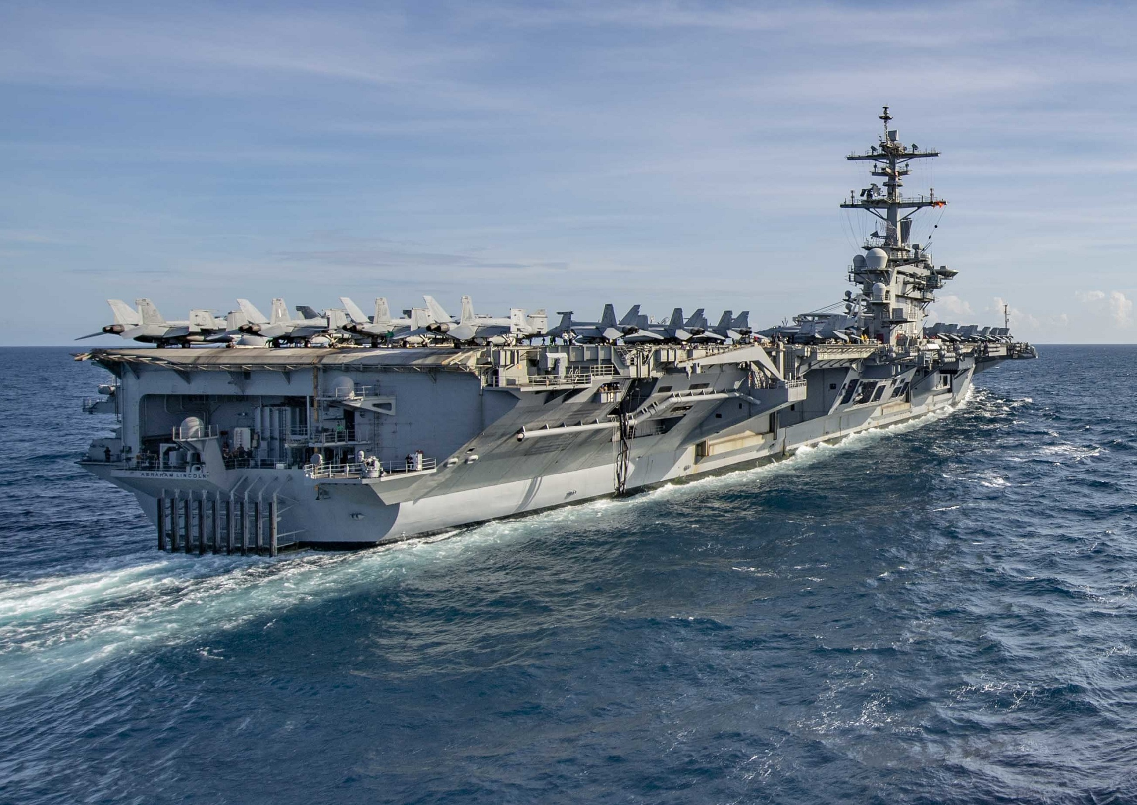 "5996368 - U.S. Navy confirms ""harassed"" of its aircraft carrier by Iranian vessels – Defence Blog"