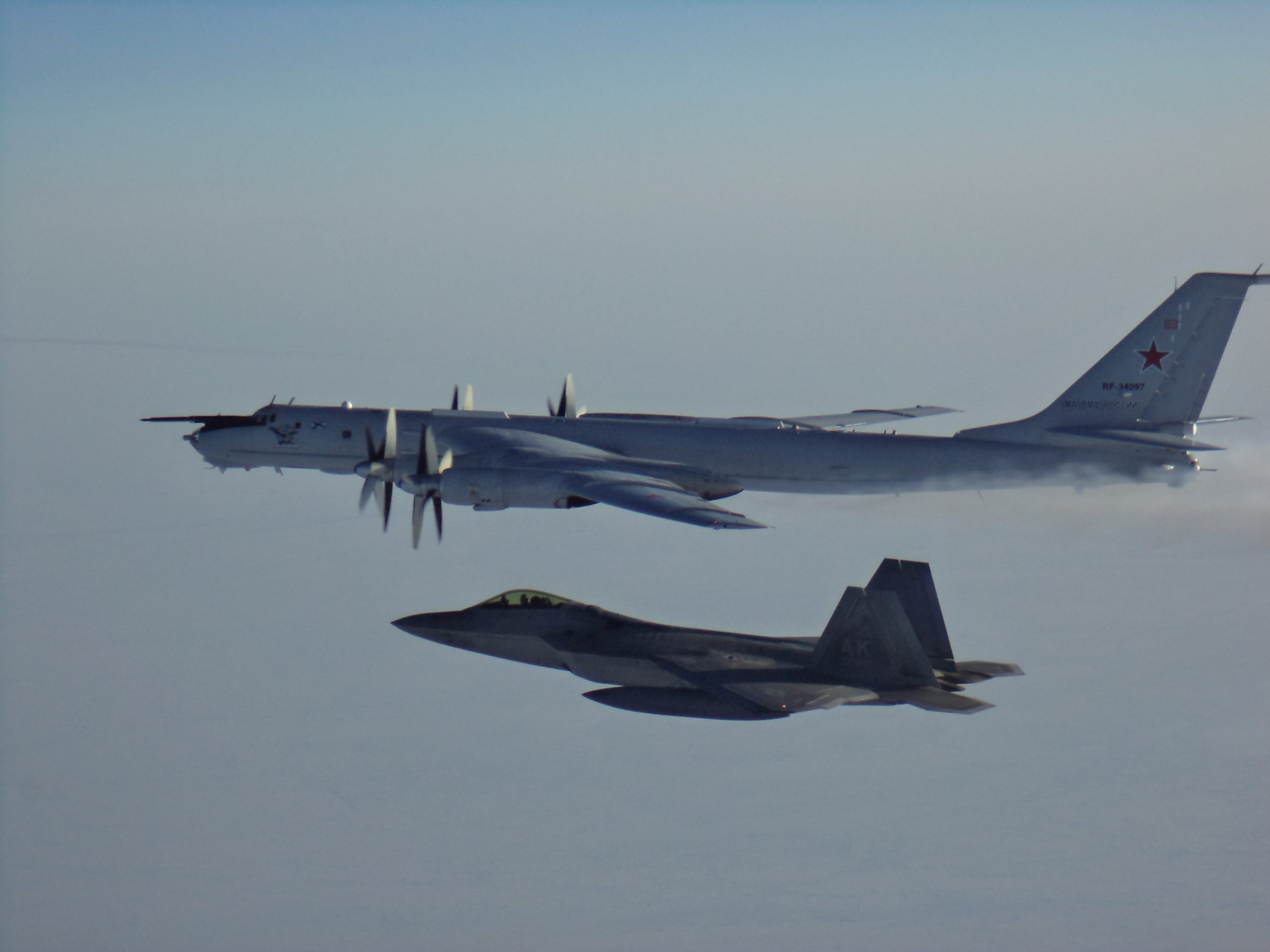 USA jet fighters help intercept Russian military planes approaching Alaska