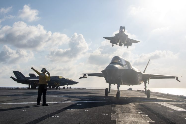 USS America conducts massive flight operations in South China Sea