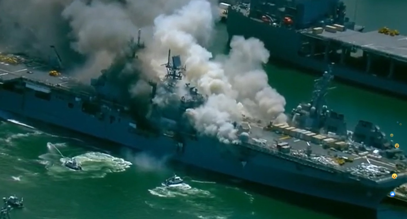 18 sailors injured after explosion on San Diego naval ship