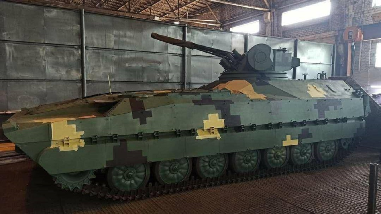 Ukraine unveils Kevlar-E infantry fighting vehicle prototype