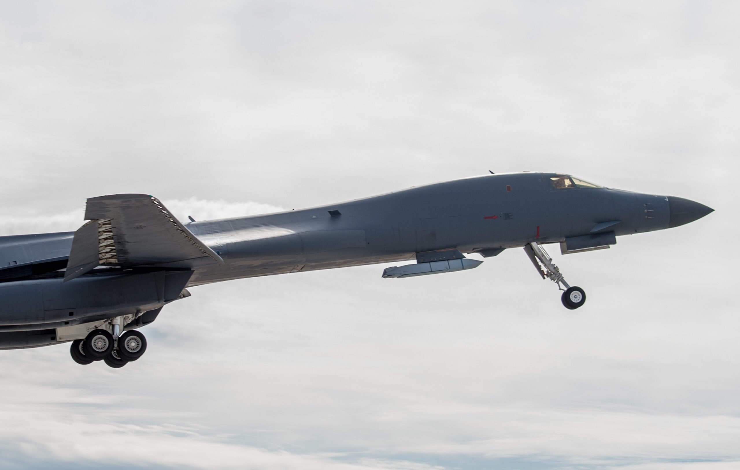 U.S. Air Force shows B-1B's external weapons carriage capabilities