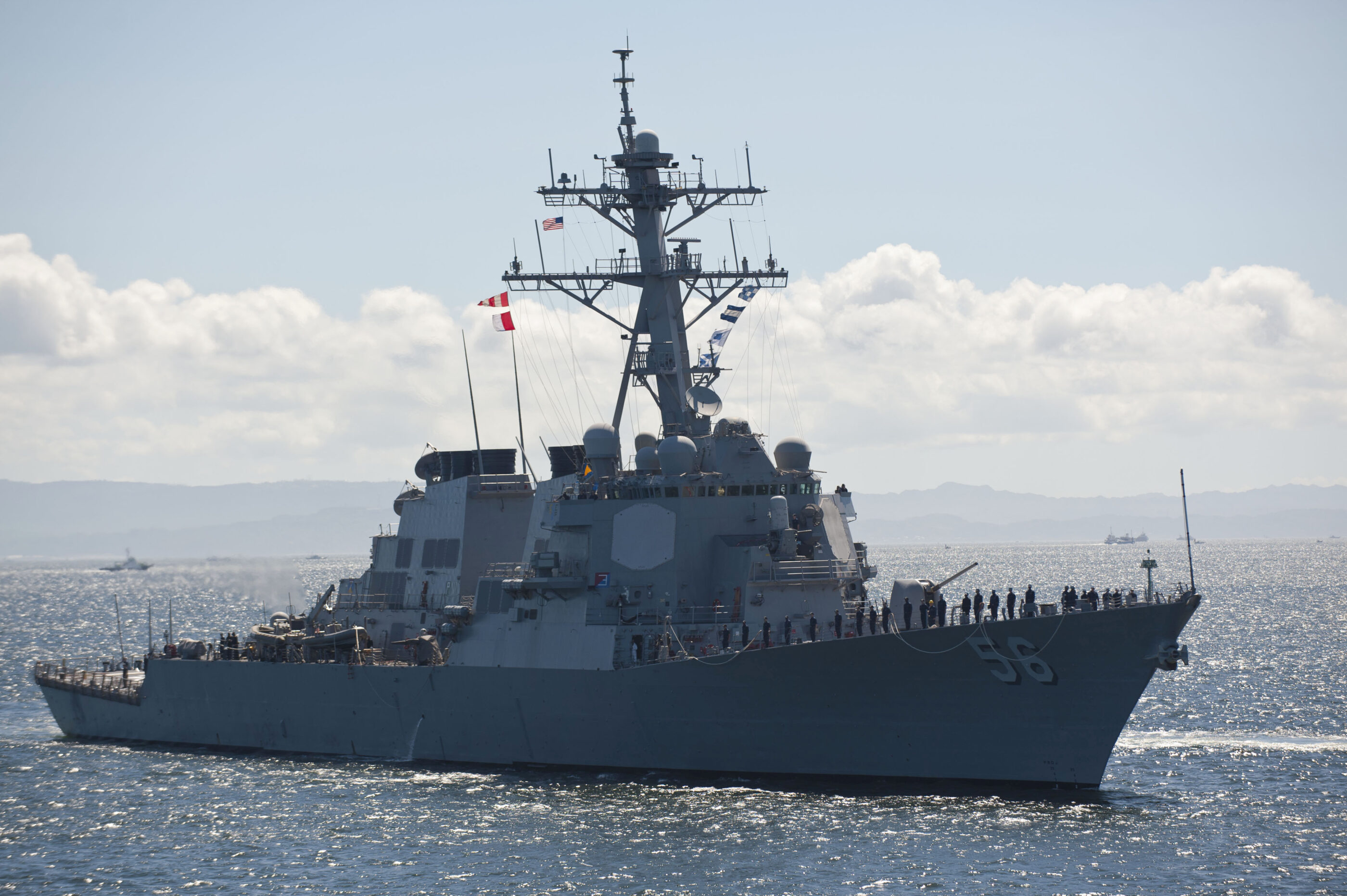 Russian destroyer 'aggressively' approaches U.S. warship in Sea of Japan