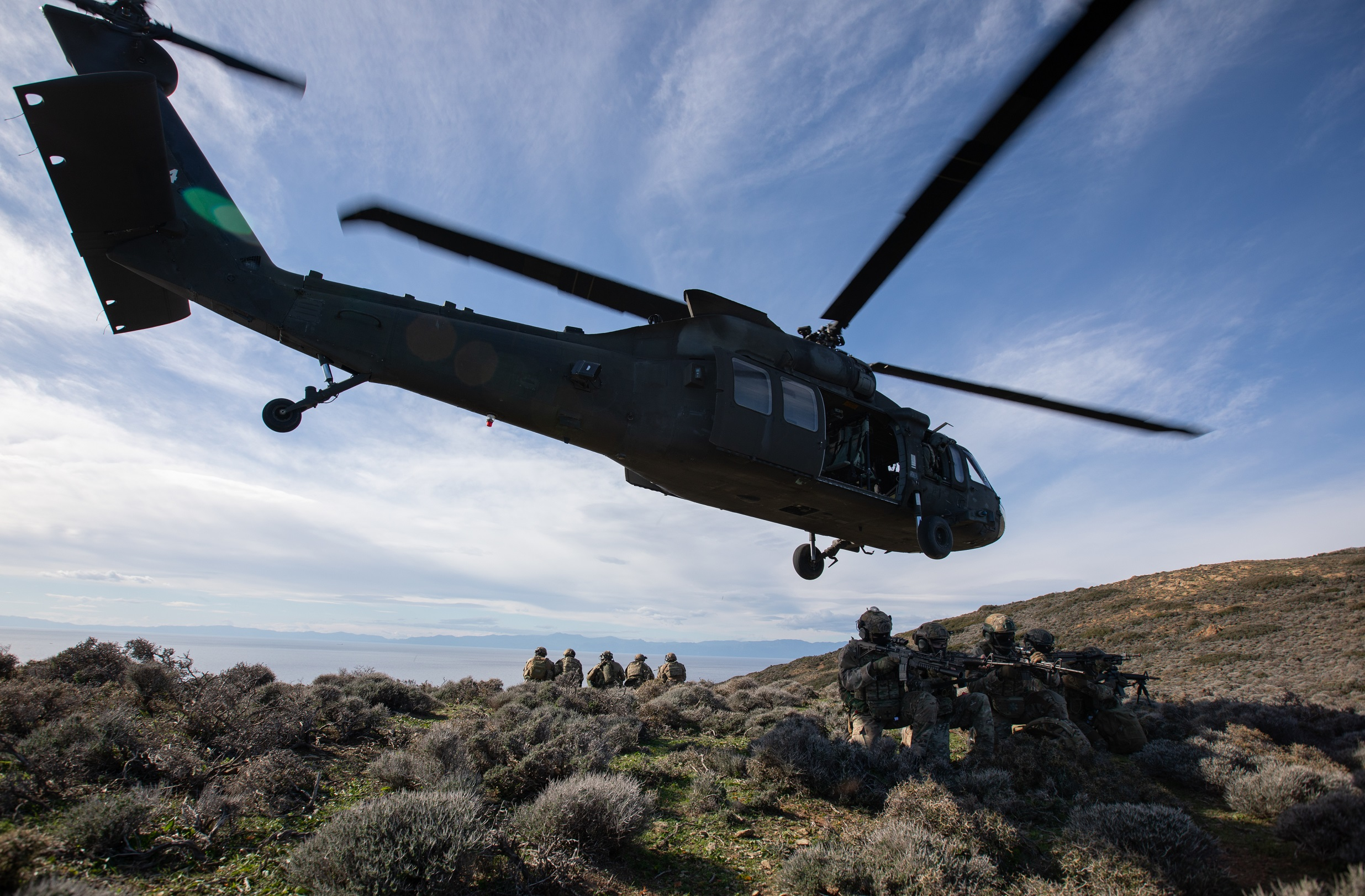 U.S. Army helicopters participate in unique joint exercise in Greece