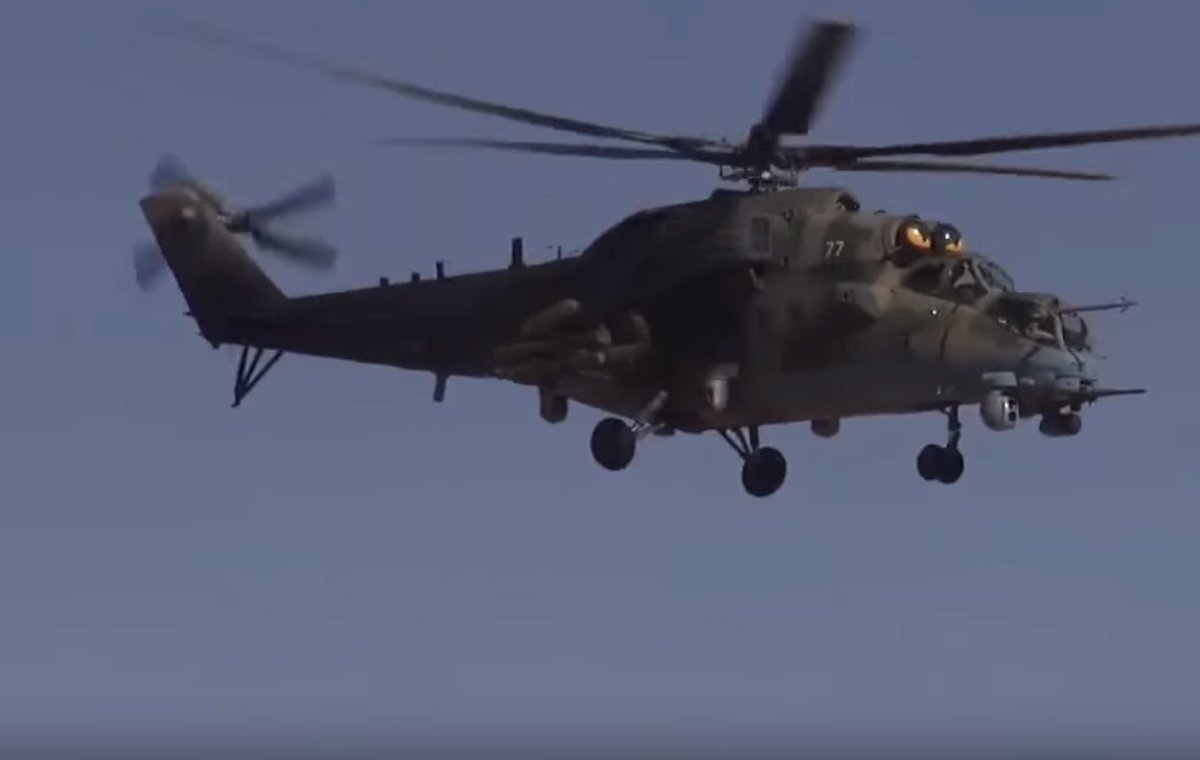 Russian military helicopter crashes in Syria